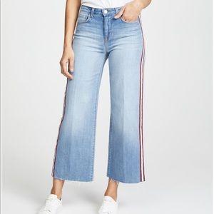 L'AGENCE Danica Wide Leg Cropped Jeans denim Sz 30